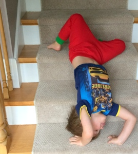 Somersaults on the stairs