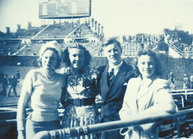 My grandma (far right) at Wrigley Field (circa 1940s)